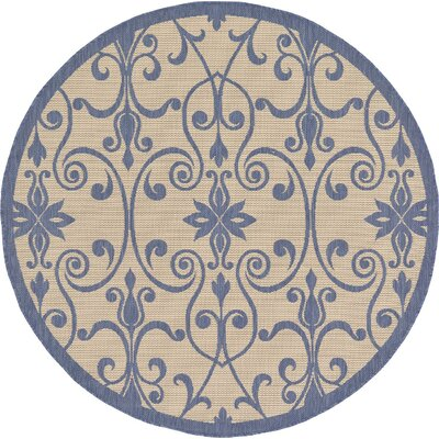 Hoyne Blue Outdoor Area Rug Rug Size: 4 x 6