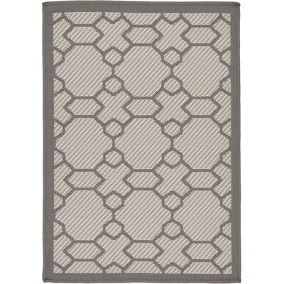 Hubert Gray Outdoor Area Rug Rug Size: 22 x 3