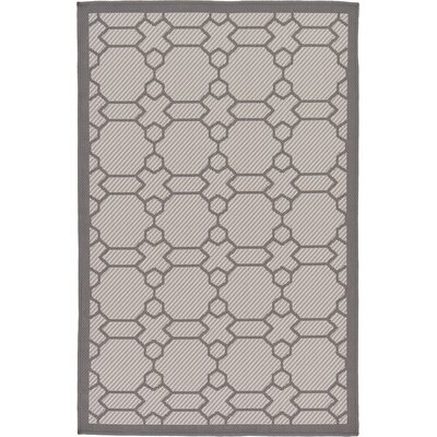 Hubert Gray Outdoor Area Rug Rug Size: 3'3