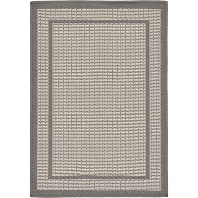 Humphrey Gray Outdoor Area Rug Rug Size: 2'2
