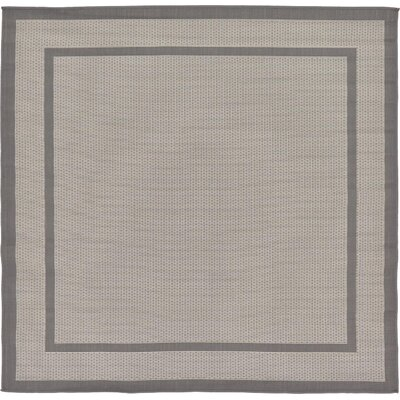 Humphrey Gray Outdoor Area Rug Rug Size: Square 6'