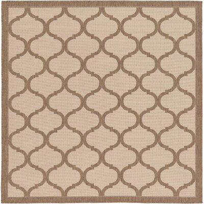 Stanwich Brown Outdoor Area Rug Rug Size: Square 6