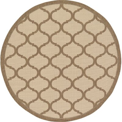 Stanwich Brown Outdoor Area Rug Rug Size: Round 6