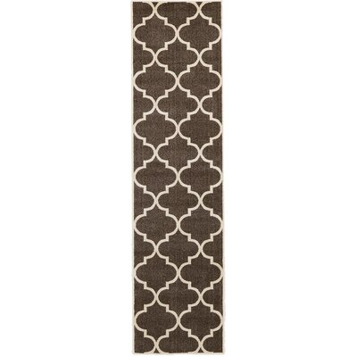Moore Brown Area Rug Rug Size: Runner 27 x 10