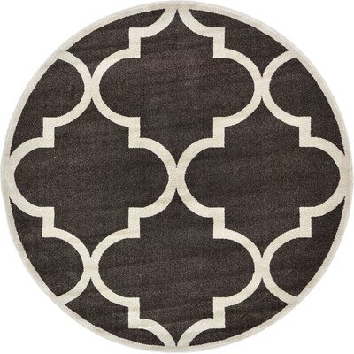 Moore Brown Area Rug Rug Size: Round 6
