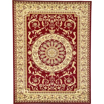Oskar Red Area Rug Rug Size: 7' x 10'