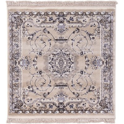 Layton Taupe Area Rug Rug Size: Square 4'