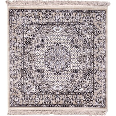 Layton Taupe Area Rug Rug Size: Square 4