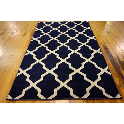 Moore Blue Area Rug Rug Size: Rectangle 5 x 8