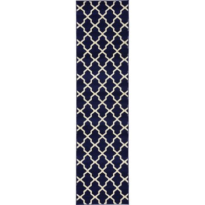 Moore Navy Blue Area Rug Rug Size: Runner 27 x 10