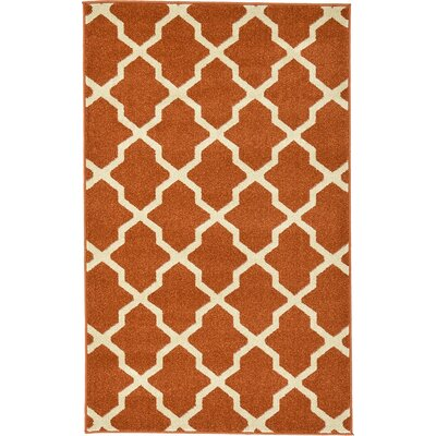 Moore Rust Red Area Rug Rug Size: 33 x 53