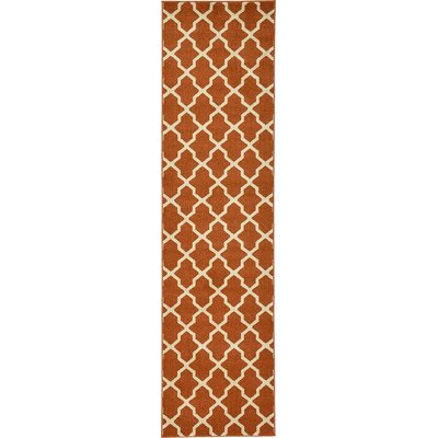 Moore Rust Red Area Rug Rug Size: Runner 27 x 10