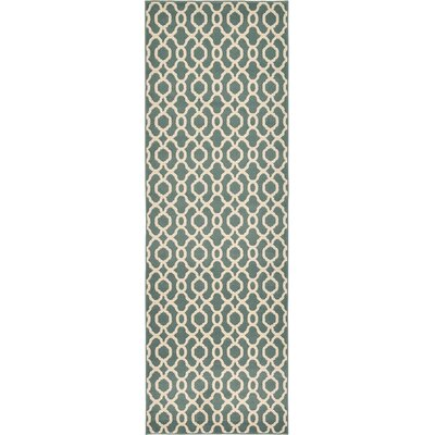 Moore Blue Area Rug Rug Size: Runner 33 x 10