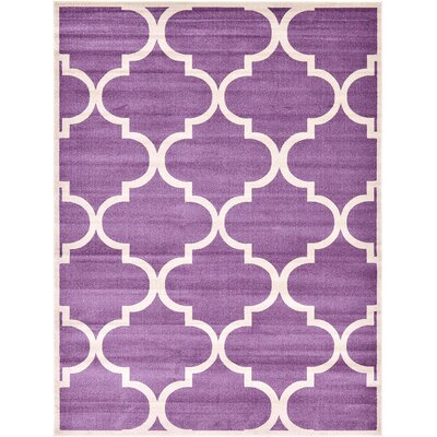 Moore Purple Area Rug Rug Size: Rectangle 9 x 12