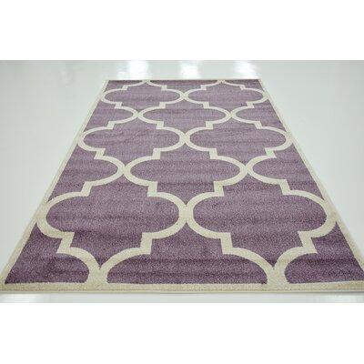 Moore Purple Area Rug Rug Size: 5 x 8