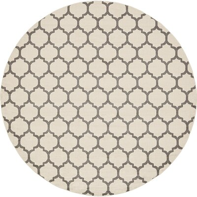 Moore Beige Area Rug Rug Size: Round 122