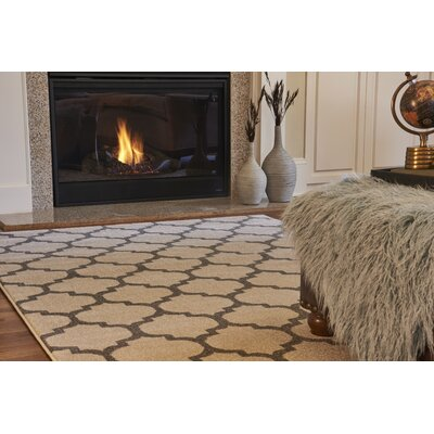 Moore Beige Area Rug Rug Size: Rectangle 106 x 165