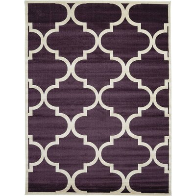 Moore Dark Purple Area Rug Rug Size: 9 x 12