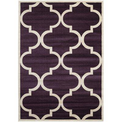 Moore Dark Purple Area Rug Rug Size: Rectangle 7 x 10
