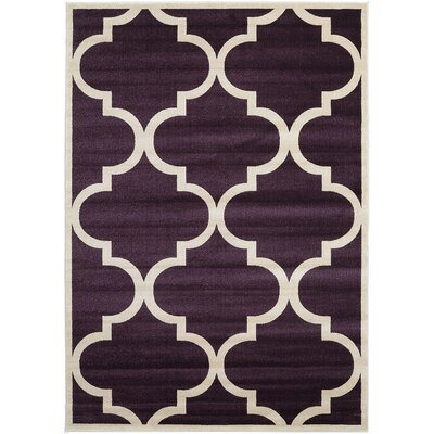 Moore Dark Purple Area Rug Rug Size: 7 x 10