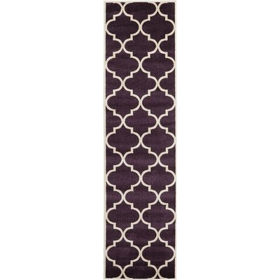 Moore Dark Purple Area Rug Rug Size: Runner 27 x 10