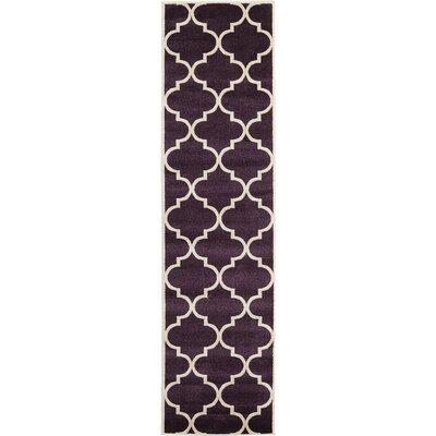 Moore Dark Purple Area Rug Rug Size: Runner 2'7