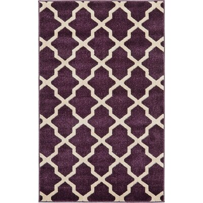 Moore Purple Area Rug Rug Size: 33 x 53