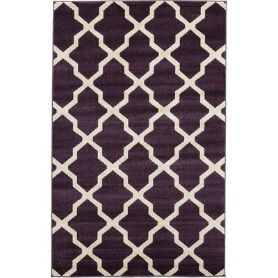 Moore Purple Area Rug Rug Size: 5 x 8