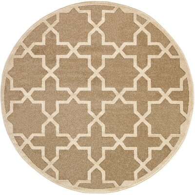 Moore Beige Area Rug Rug Size: Round 6