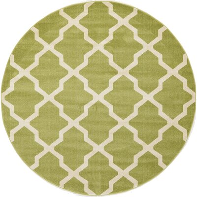 Moore Green Area Rug Rug Size: Round 33