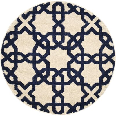 Moore Beige Area Rug Rug Size: Round 33