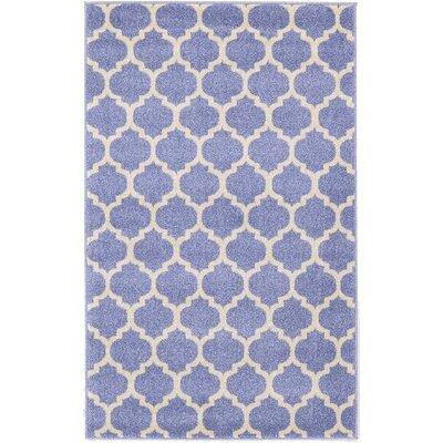 Moore Light Blue Area Rug Rug Size: 7 x 10