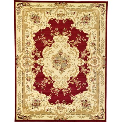 Oskar Red Area Rug Rug Size: 8 x 11