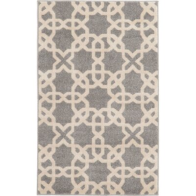 Moore Gray Area Rug Rug Size 5 x 8