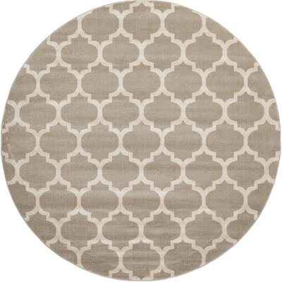 Moore Tan Area Rug Rug Size: Round 6
