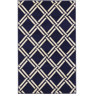 Storyvale Navy Blue Area Rug Rug Size: Rectangle 33 x 53