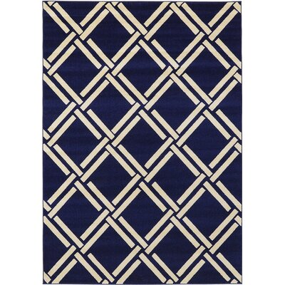 Storyvale Navy Blue Area Rug Rug Size: Rectangle 7 x 10
