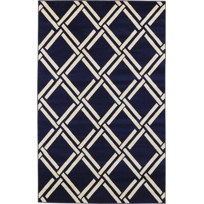 Storyvale Navy Blue Area Rug Rug Size: Rectangle 5 x 8