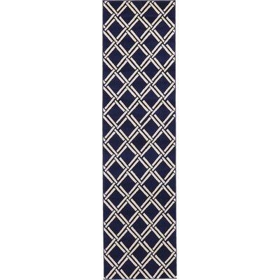 Storyvale Navy Blue Area Rug Rug Size: Runner 27 x 10