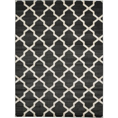 Moore Black Area Rug Rug Size: Rectangle 9 x 12