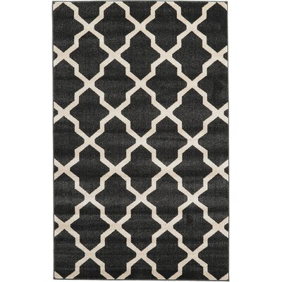 Moore Black Area Rug Rug Size: 5 x 8