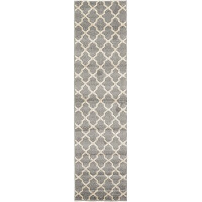 Moore Gray Area Rug Rug Size: Runner 27 x 10