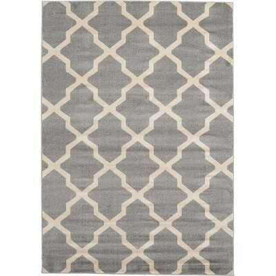 Moore Gray Area Rug Rug Size: Rectangle 7 x 10