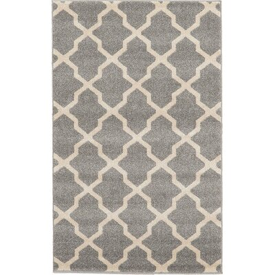 Moore Gray Area Rug Rug Size: 33 x 53
