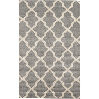 Moore Gray Area Rug Rug Size: 5 x 8
