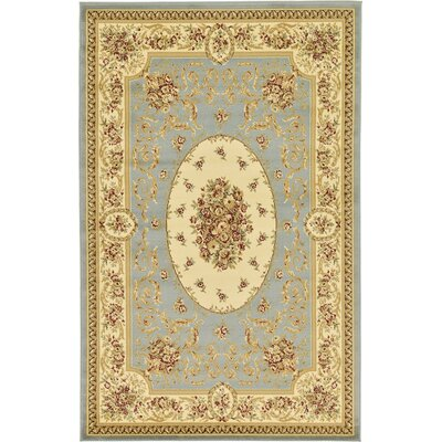 Oskar Light Blue Area Rug Rug Size: Rectangle 5 x 8