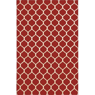 Moore Red Area Rug Rug Size: 8 x 10