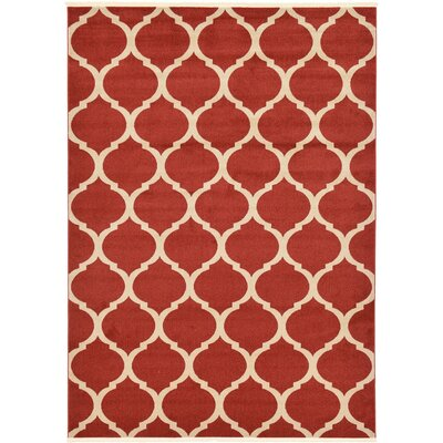 Moore Red Area Rug Rug Size: 4 x 6