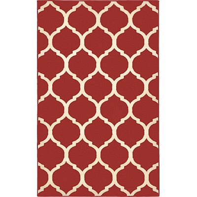 Moore Red Area Rug Rug Size: 22 x 3