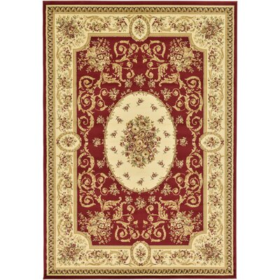 Oskar Red Area Rug Rug Size: Rectangle 7 x 10